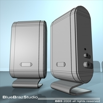 pc speakers 3d model 3ds dxf c4d obj 93193