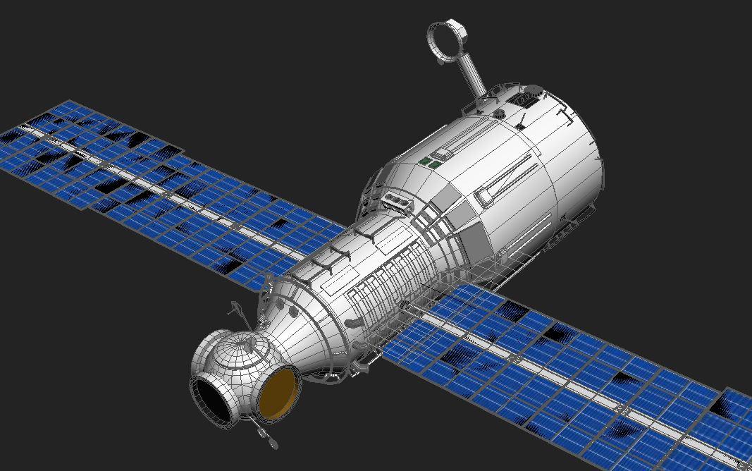 zvezda service module 3d model max 148223