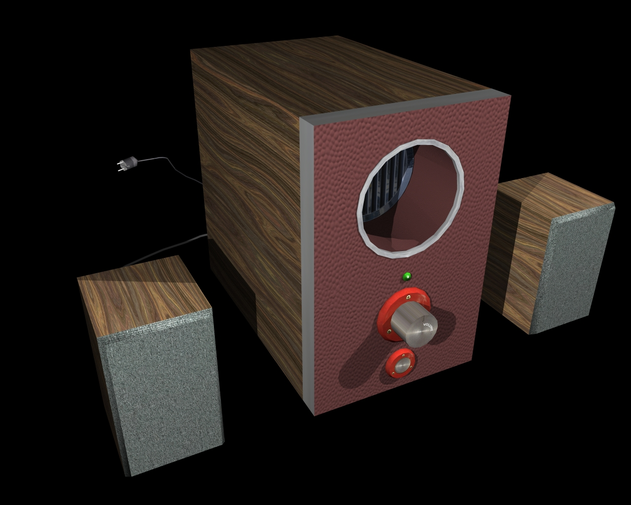 speakers 2 in 1 3d model 3ds 164298