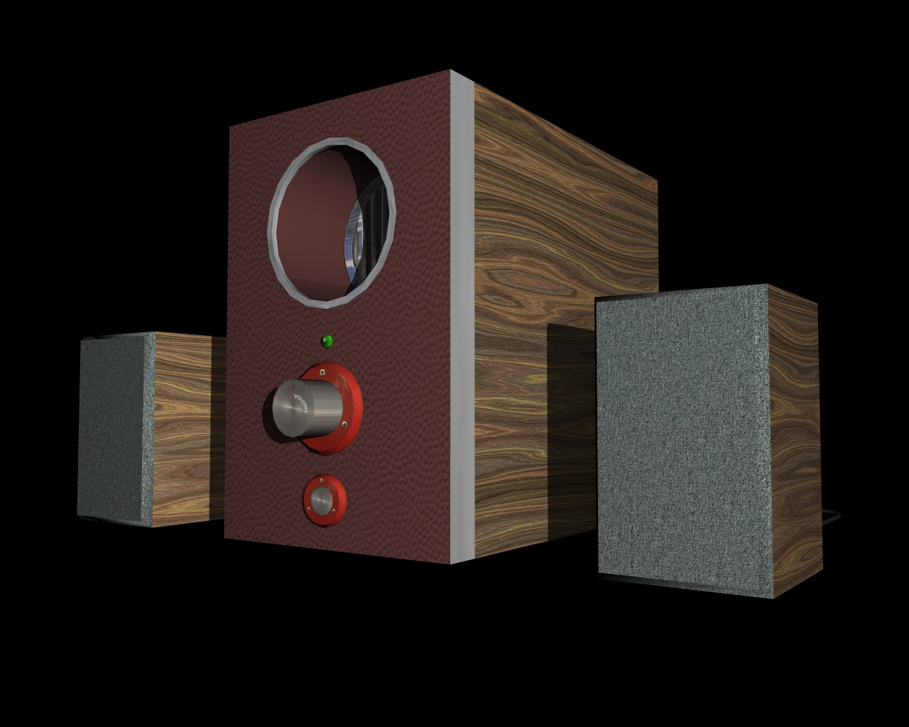 speakers 2 in 1 3d model 3ds 164300