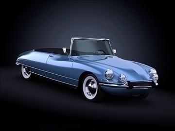 1958 citroen ds19 3d model maks 101863