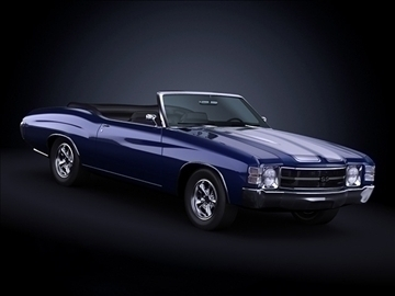 1971 chevrolet chevelle ss 3d max max 101871