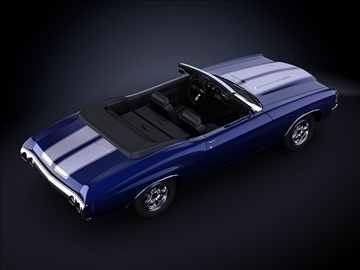 1971 chevrolet chevelle SS 3d загвар max 101872
