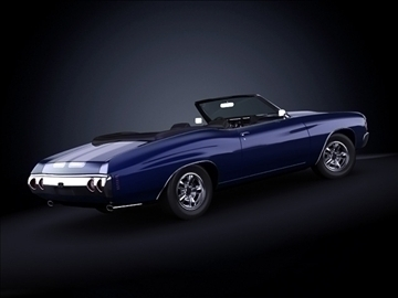 1971 chevrolet chevelle SS 3d загвар max 101873