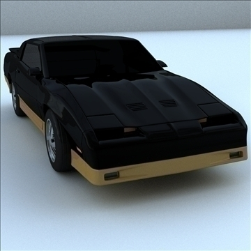 1985 trans am 3d model 3ds maksimal kanggo 100285