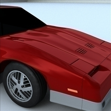 1985 trans am 3d model 3ds max lwo obj 100290