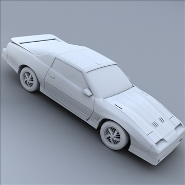 1985 trans am 3d model 3ds max lwo obj 100292