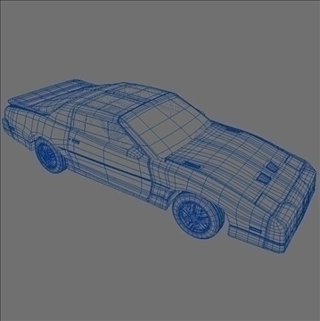 1985 trans am 3d model 3ds max lwo obj 100293