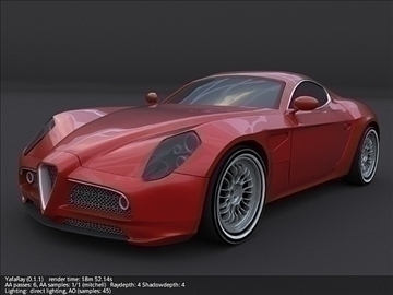 alfa romeo 8c competition 3d modell 3ds max fbx blandning c4d lwo obj 107200
