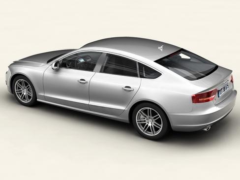 audi a5 sportback 3d model 3ds max c4d lwo ma mb obj 113831