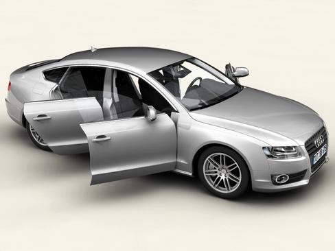 audi a5 sportback 3d model 3ds max c4d lwo ma mb obj 113833