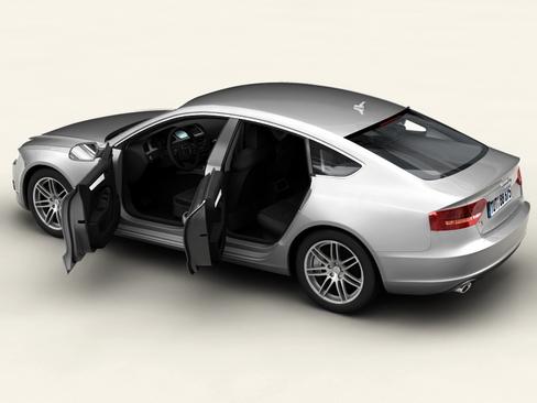 audi a5 sportback 3d model 3ds max c4d lwo ma mb obj 113834