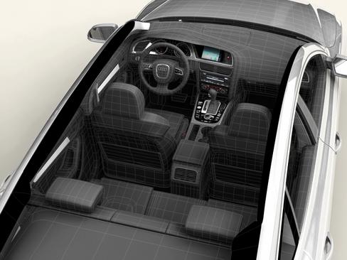 audi a5 sportback 3d model 3ds max c4d lwo ma mb obj 113837
