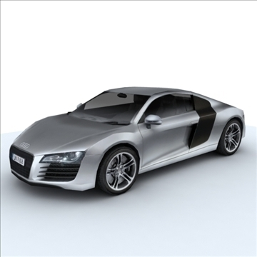 audi r8 for games and viz 3d model max 86833