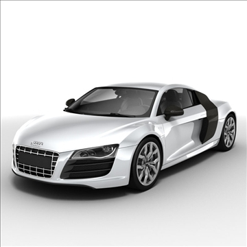 audi r8 v10 2010 3d model 3ds lwo ma mb obj 111695