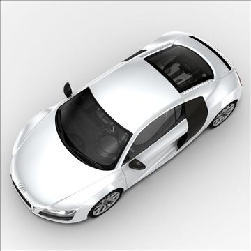 audi r8 v10 2010 3d model 3ds lwo ma mb obj 111697