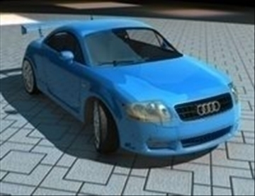 audi tt high 3d model ma mb obj 84627