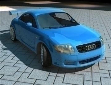 audi tt high 3d model ma mb obj 84629