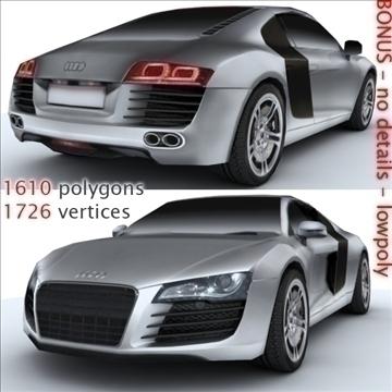 Audi R8 for games and viz 3d model max 86840