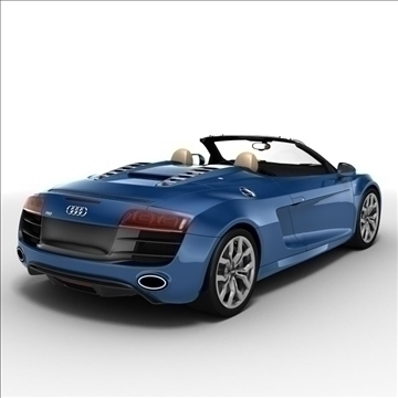 Audi R8 Spyder 2010 3d model 3ds max lwo lws lw ma mb obj 105140