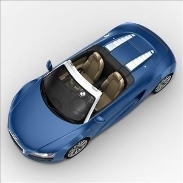 Audi R8 Spyder 2010 3d model 3ds max lwo lws lw ma mb obj 105141