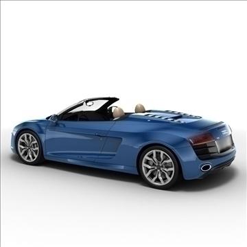 Audi R8 Spyder 2010 3d model 3ds max lwo lws lw ma mb obj 105144