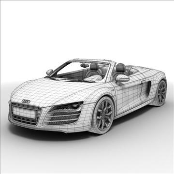 Audi R8 Spyder 2010 3d model 3ds max lwo lws lw ma mb obj 105145