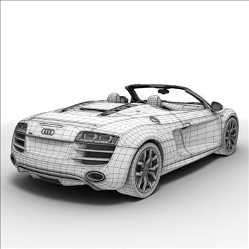 Audi R8 Spyder 2010 3d model 3ds max lwo lws lw ma mb obj 105146