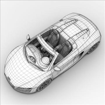 Audi R8 Spyder 2010 3d model 3ds max lwo lws lw ma mb obj 105147