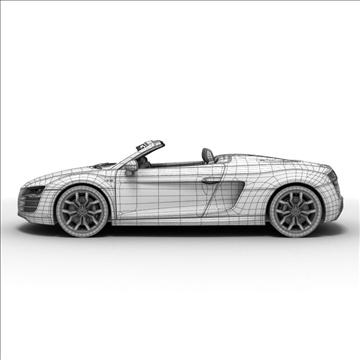 Audi R8 Spyder 2010 3d model 3ds max lwo lws lw ma mb obj 105148