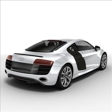 Audi R8 V10 2010 3d model 3ds lwo lws lw ma mb obj 111696
