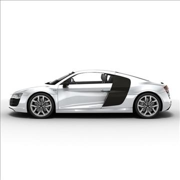 Audi R8 V10 2010 3d model 3ds lwo lws lw ma mb obj 111698