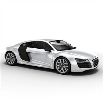 Audi R8 V10 2010 3d model 3ds lwo lws lw ma mb obj 111699