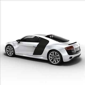 Audi R8 V10 2010 3d model 3ds lwo lws lw ma mb obj 111700