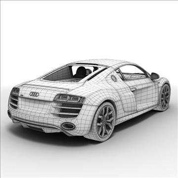Audi R8 V10 2010 3d model 3ds lwo lws lw ma mb obj 111702