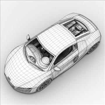 Audi R8 V10 2010 3d model 3ds lwo lws lw ma mb obj 111703