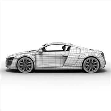 Audi R8 V10 2010 3d model 3ds lwo lws lw ma mb obj 111704