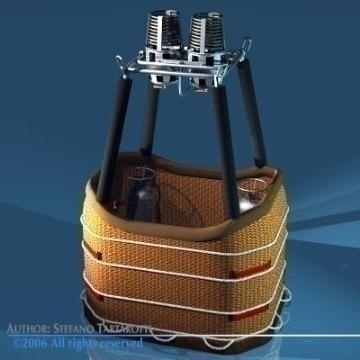balloon basket and gas tank 3d model 3ds other obj 77532