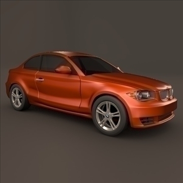 bmw 1 coupe 3d model 3ds fbx blend c4d 107104