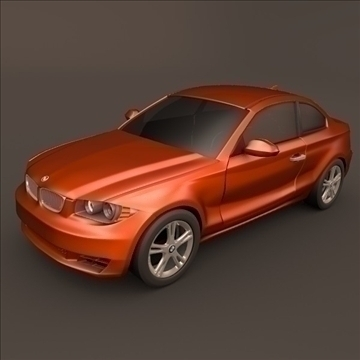 bmw 1 coupe 3d model 3ds fbx blend c4d 107106
