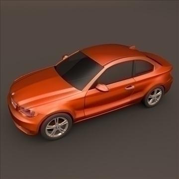 bmw 1 coupe 3d model 3ds fbx blend c4d 107108
