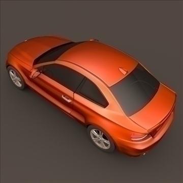 bmw 1 coupe 3d model 3ds fbx blend c4d 107109