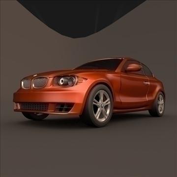 bmw 1 coupe 3d model 3ds fbx blend c4d 107110