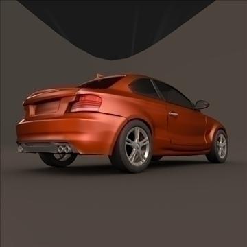 bmw 1 coupe 3d model 3ds fbx blend c4d 107111