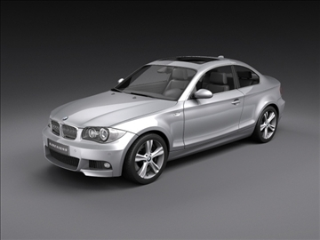 bmw 1 seri coupe 3d model 3ds max fbx c4d ma mb hrc xsi obj 108522