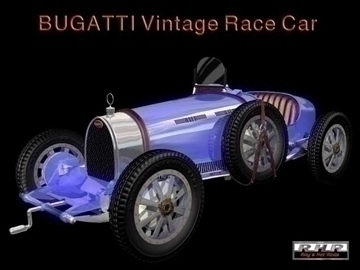 bugatti type 35 vintage race car 3d model lwo obj 82071