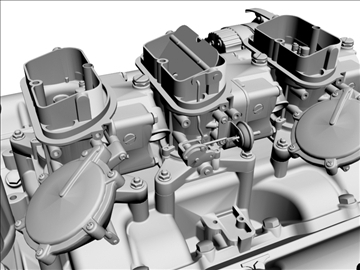 chevrolet 427 v8 engine 3d model 3ds dxf 104755