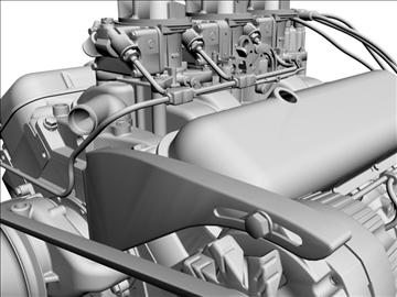 chevrolet 427 v8 engine 3d model 3ds dxf 104757