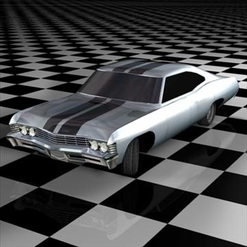chevrolet impala 1967 3d model 3ds fbx c4d 94541