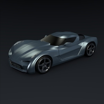corvette stingray concept 3d model 3ds max fbx blend 106691
